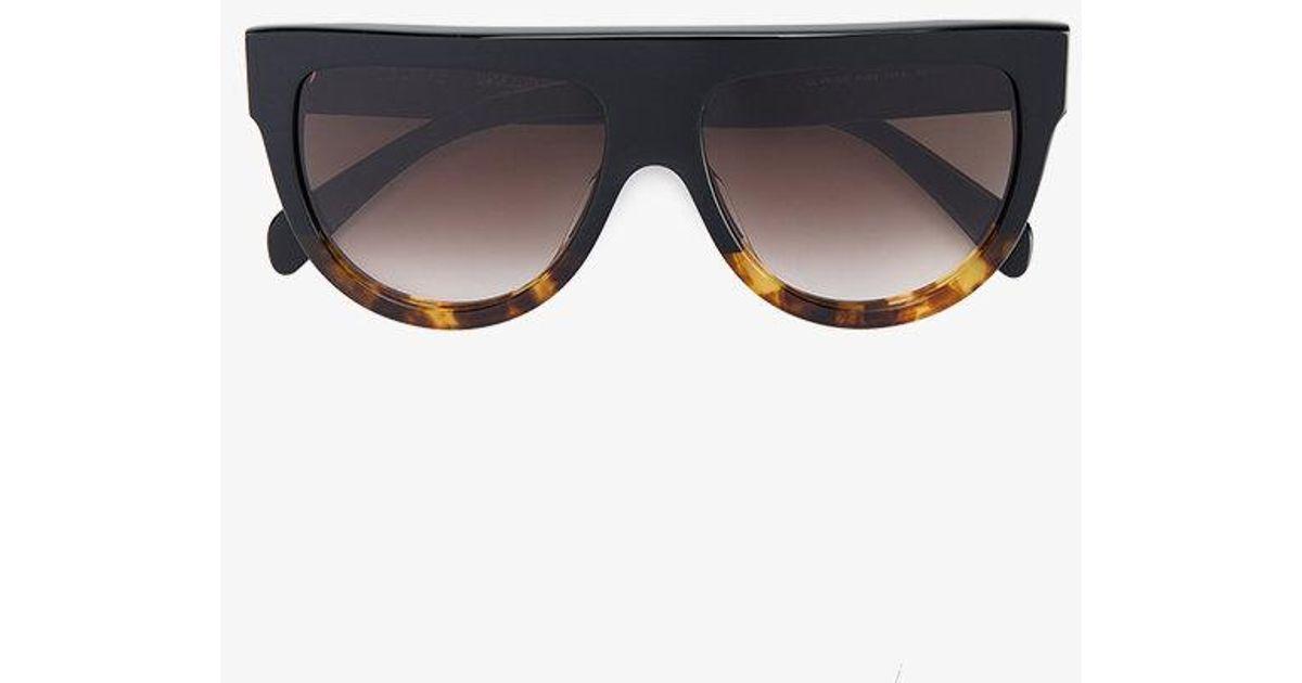 6f5ce0e89e5 Lyst - Céline  shadow  Sunglasses in Black