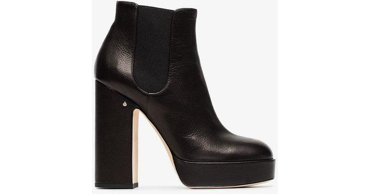 d8022603f9f Lyst - Laurence Dacade Black Rosa 120 Leather Platform Boots in Black