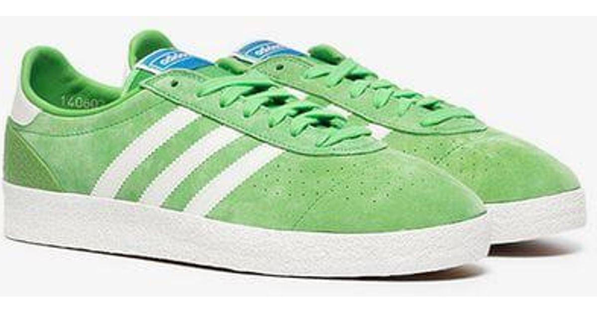 Adidas Green Munchen Super Spzl Suede Sneakers for men