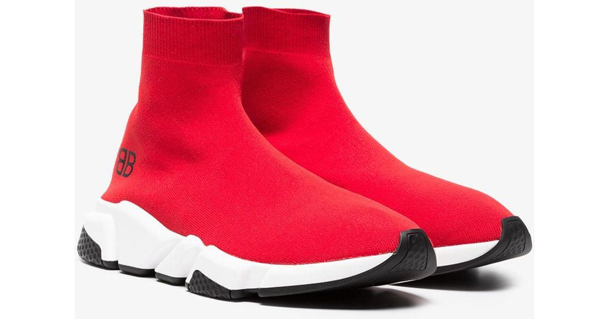 d14c0906b637 Lyst - Balenciaga Red Speed Low Sneakers in Red for Men
