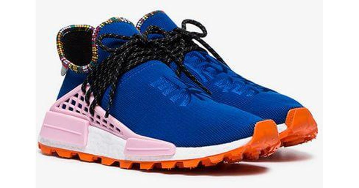 Lyst - adidas By Pharrell Williams X Pharrell Williams Blue Human Body Nmd  Sneakers in Blue for Men c5daffc5b