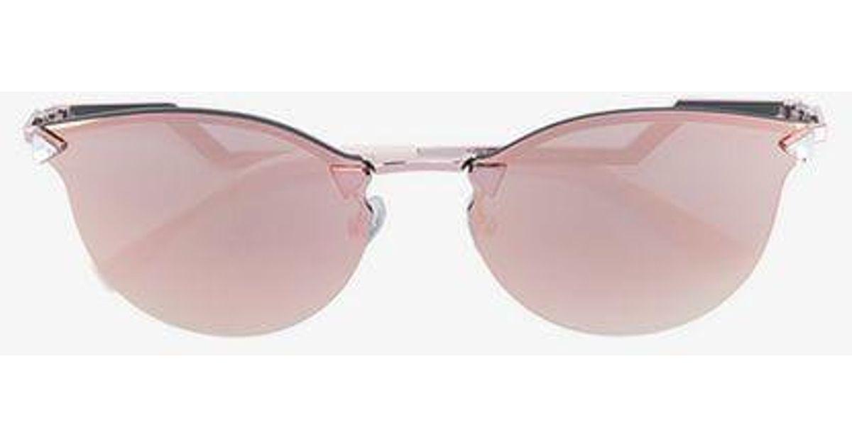 f6ab51e2e4 Fendi Pink Rimless Wayfarer Sunglasses in Pink - Lyst