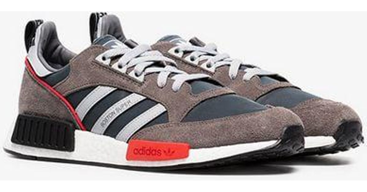 1d881aaffa27 adidas Never Made Multicoloured Boston Super R1 Suede Sneakers in Gray for  Men - Lyst