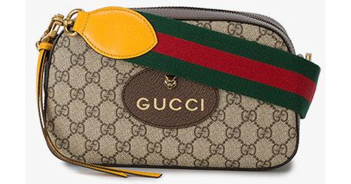 d4f6292ec17f Gucci Gg Supreme Shoulder Bag in Brown - Lyst