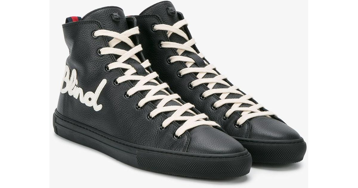ca201e379 Gucci Blind For Love Sneakers in Black for Men - Lyst