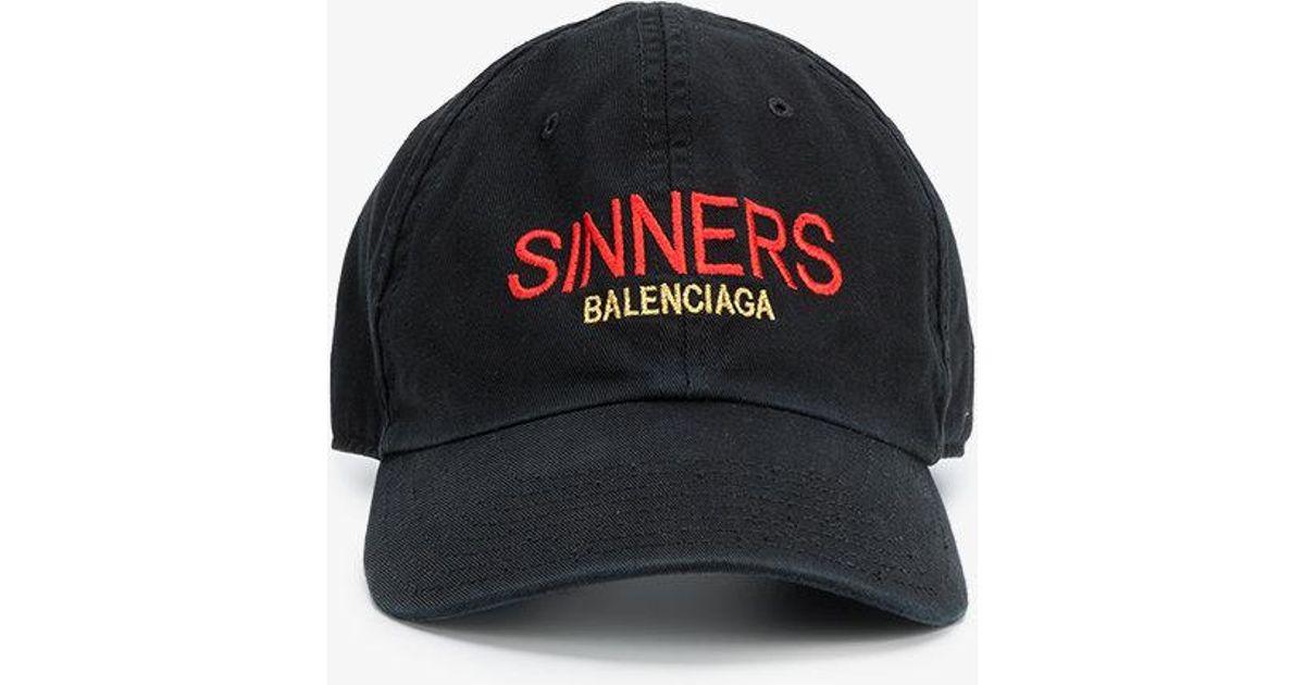 ec2268a00bd57 Balenciaga Sinners Baseball Cap in Black for Men - Lyst