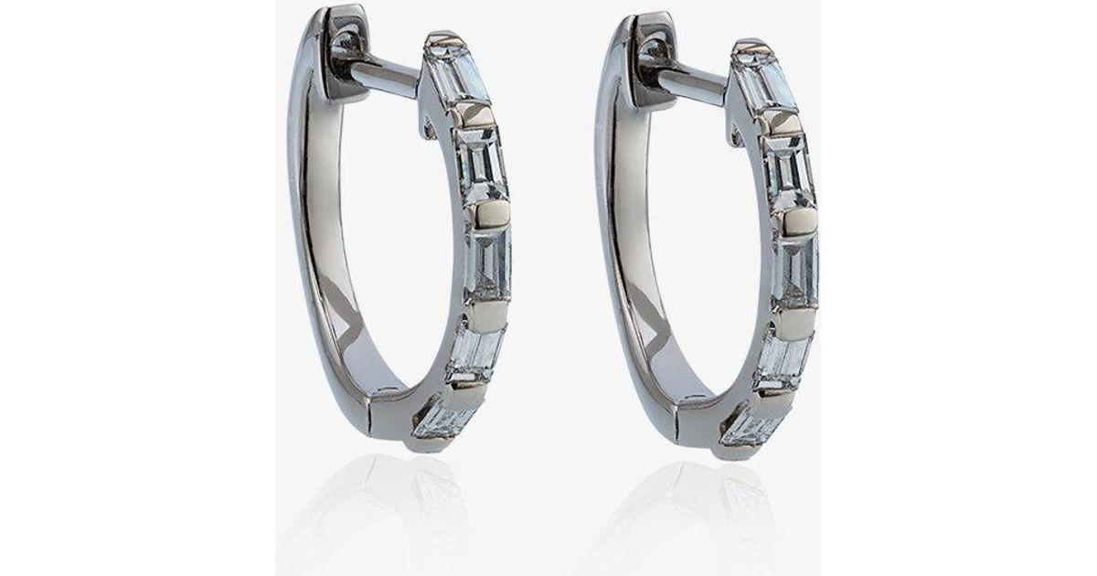 Shay square stacked baguette stud earrings - Metallic 1ybCi36zhG