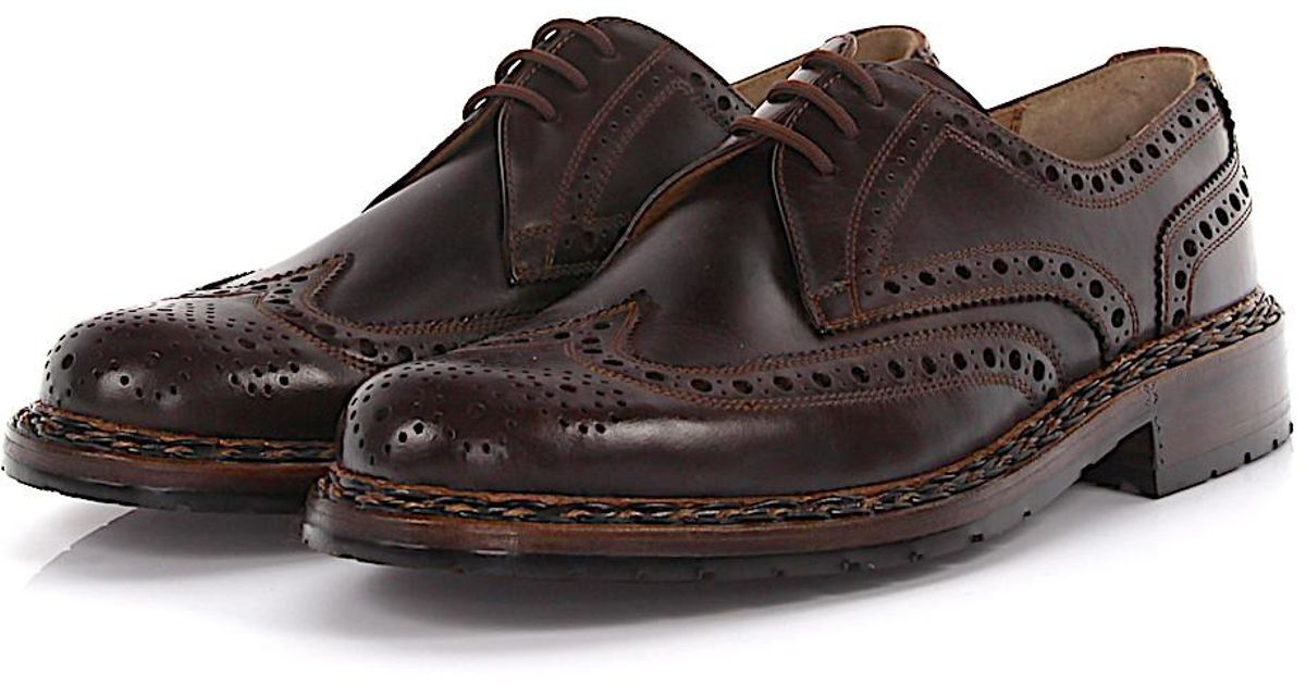 Loafers Brogue Hillbilly mocca straight cap perforated Heinrich Dinkelacker r9mS7G