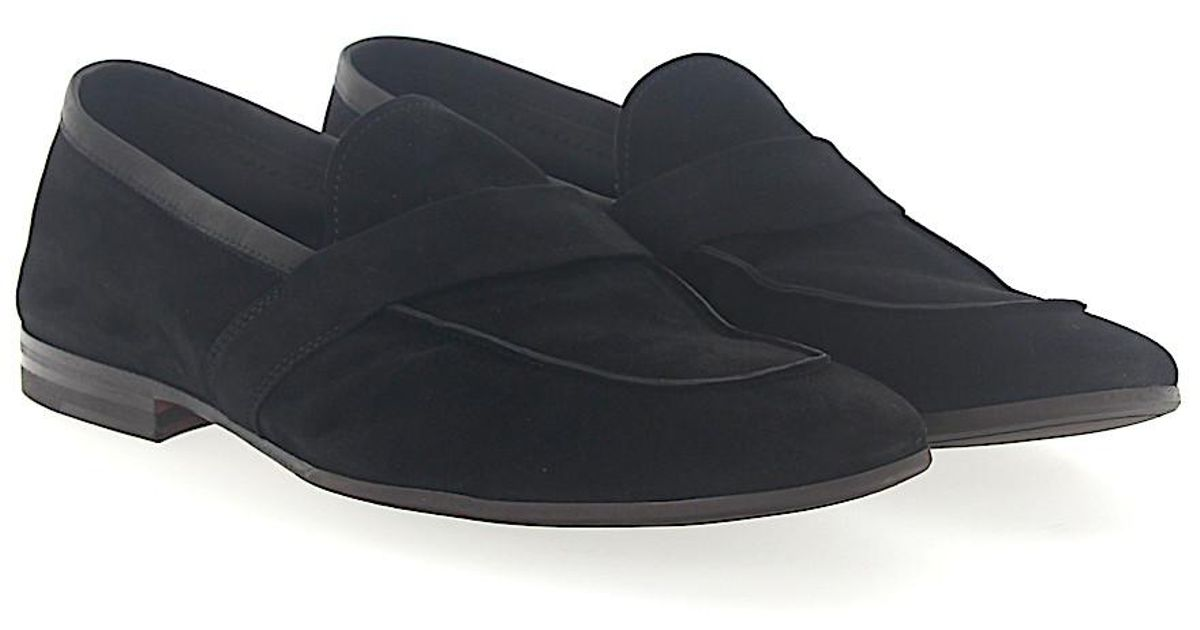 Slip-on shoes 68400 suede black Henderson Discount Professional gHaqVf