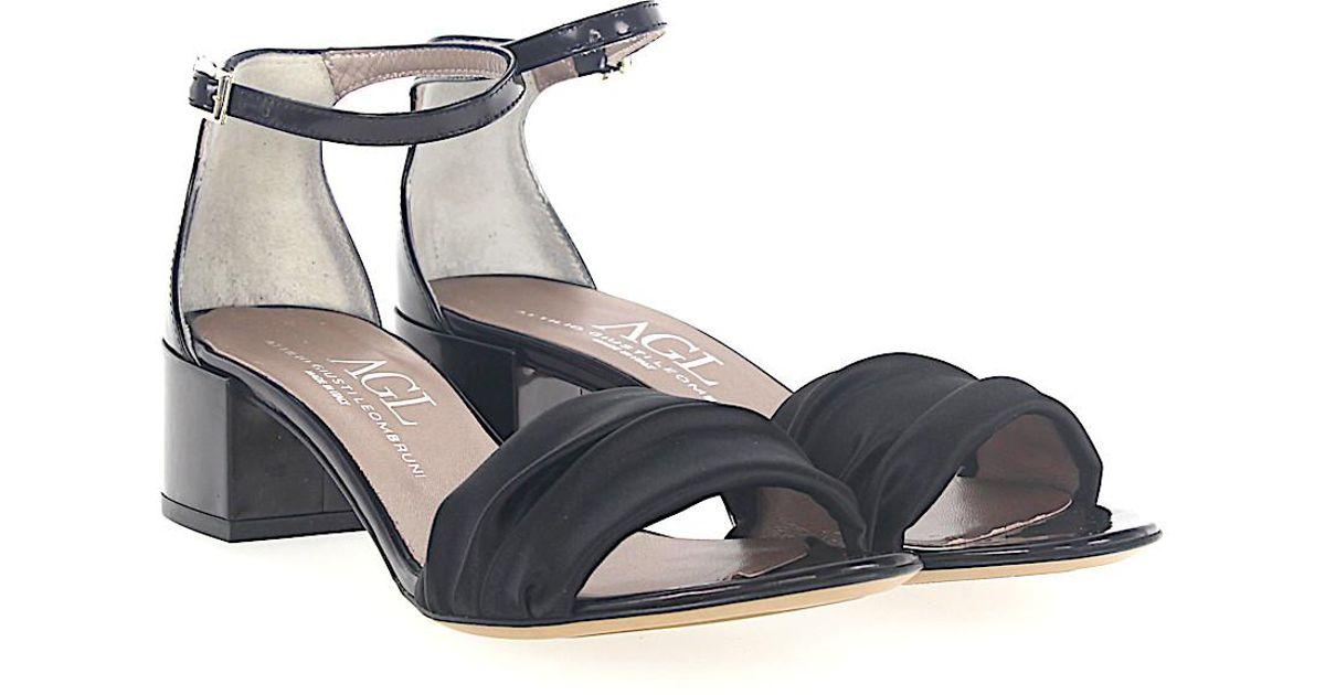 AGL ATTILIO GIUSTI LEOMBRUNI Sandals D631052 satin patent leather Q5ltjp