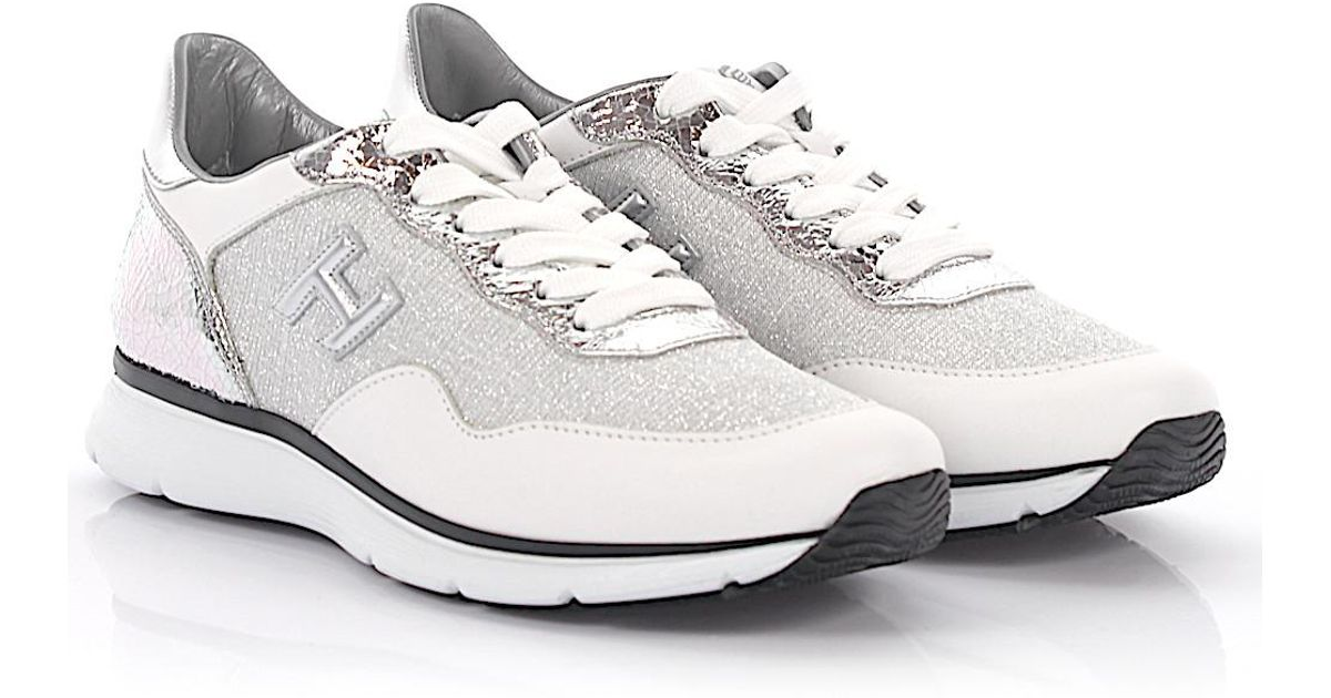 Hogan Sneakers calfskin Glitter Logo gold n28xViRh6W