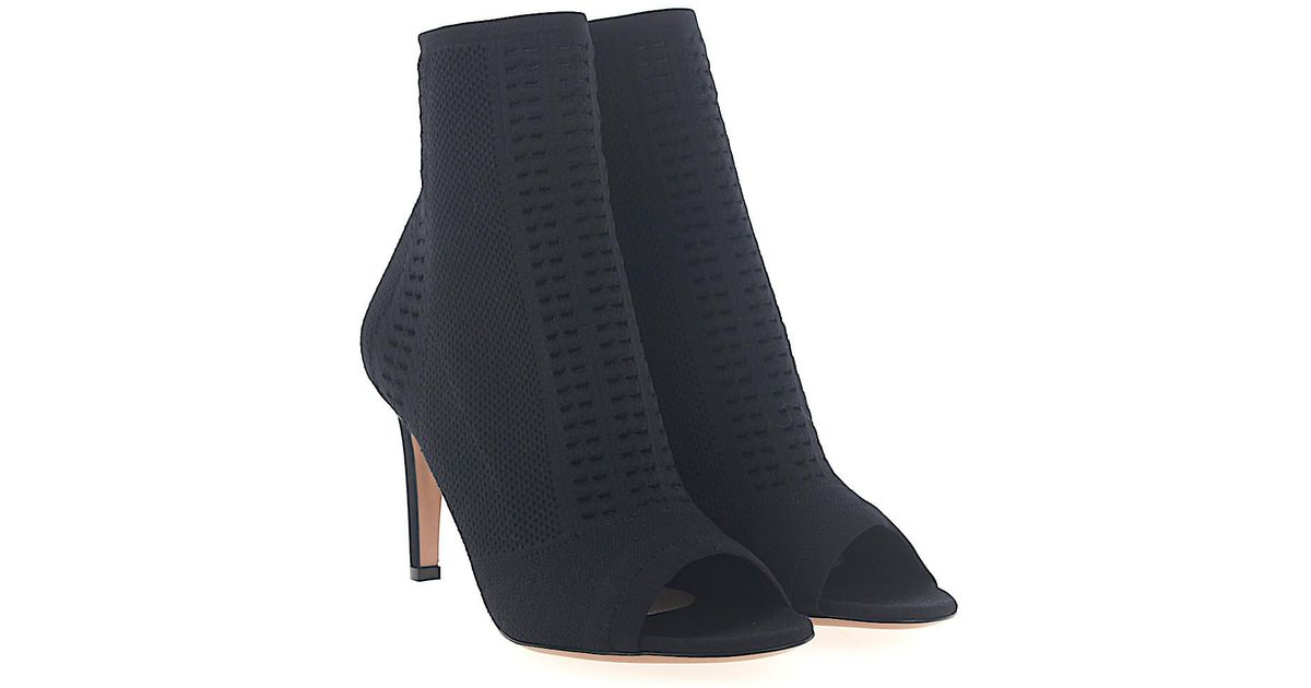Gianvito Rossi Ankle Boots SAUVAGE fabric leopard print oXvDdh