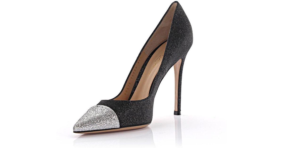 Pumps Allie black silver glitter Gianvito Rossi CEXOQVeJ