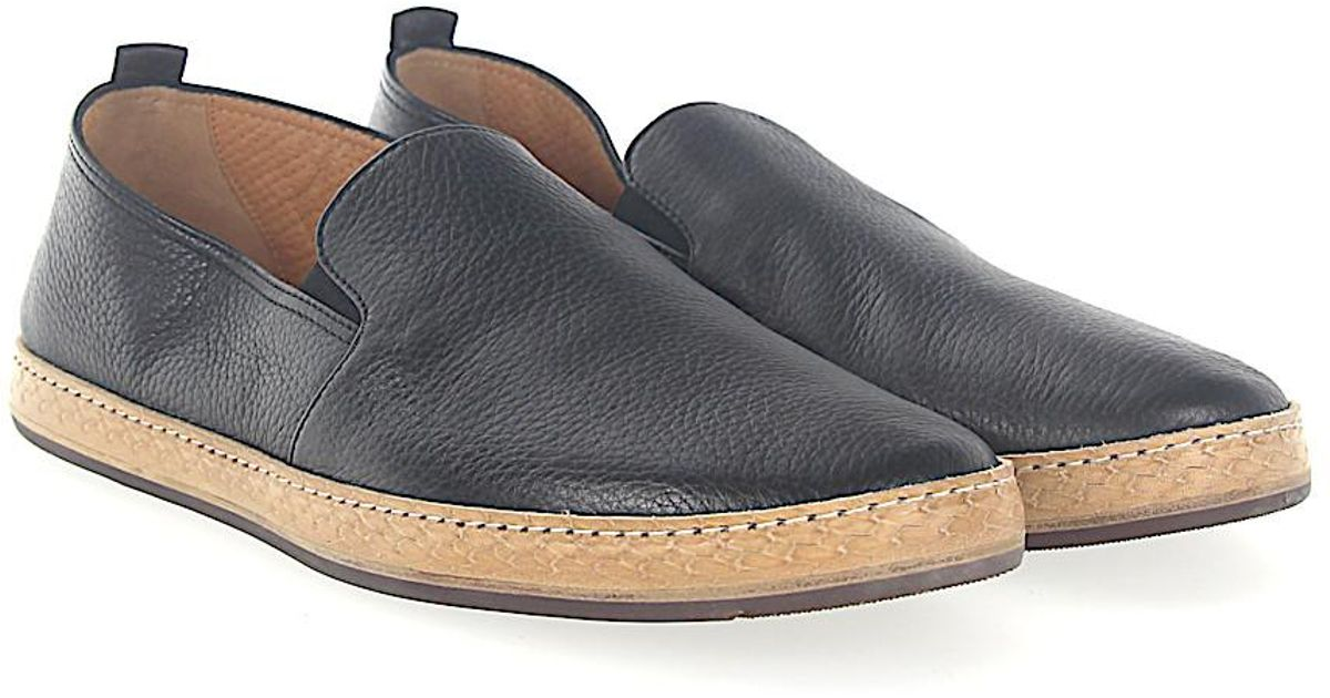 Slip-on shoes TINOS deerskin light grey white Henderson jZVqoyM