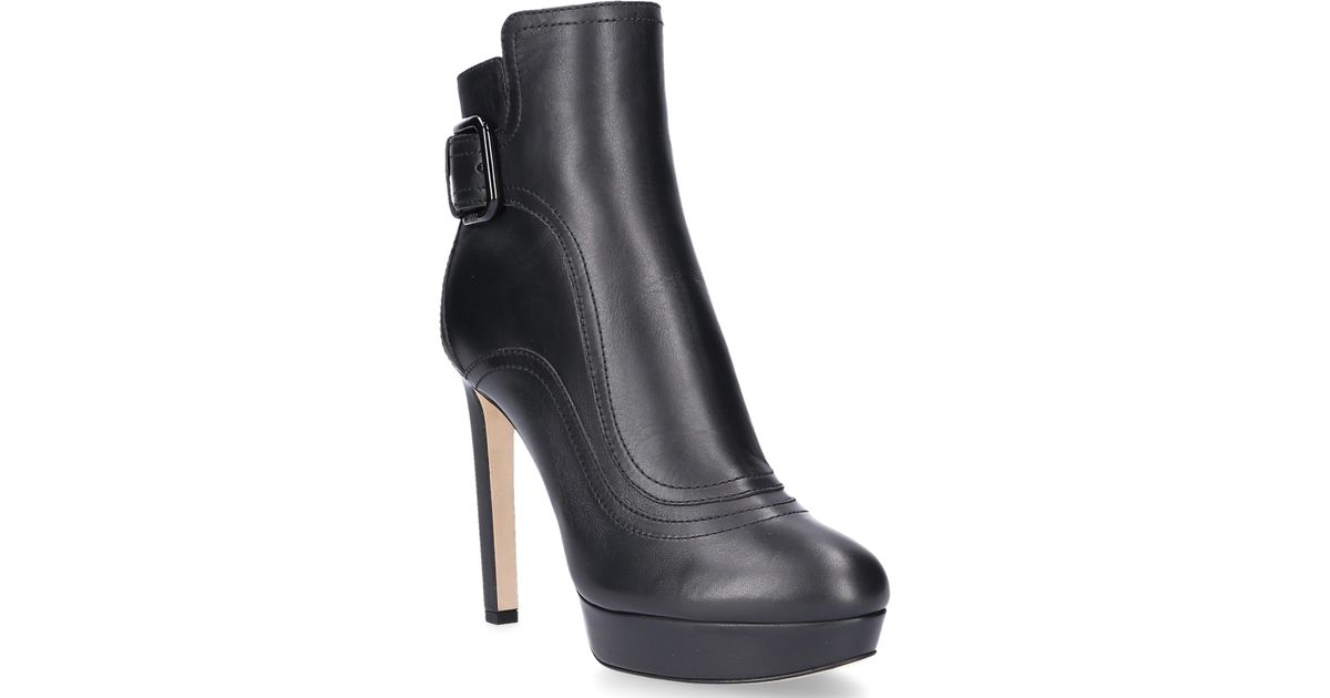 Jimmy choo Ankle Platform Boots BRITNEY 115 smooth leather Decorative buckle GiOEIDHa