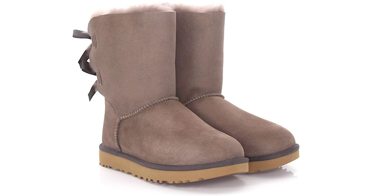 b493cadcba6 Ugg - Purple Ankle Boots Calfskin Suede Ribbon Lilac - Lyst