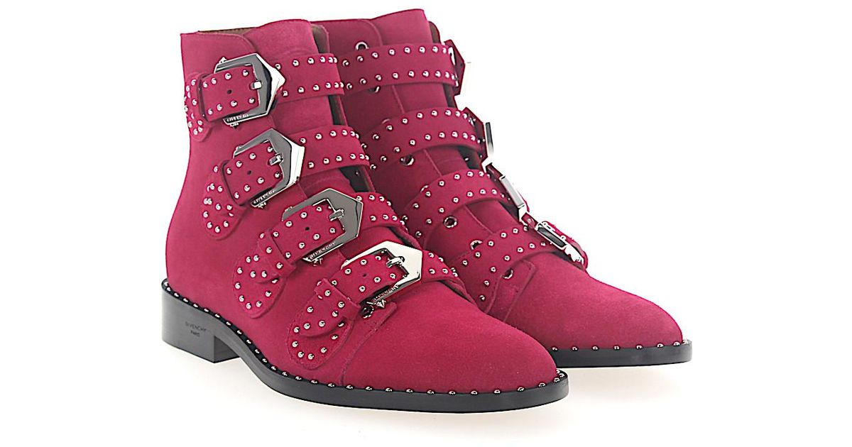 Givenchy Boots BE08143 suede fuxia studs nyFAi