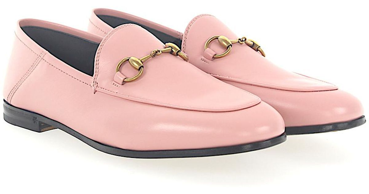 Gucci Flat Shoes BRIXTON calfskin Metal decorations rose YqgPWbIiEa