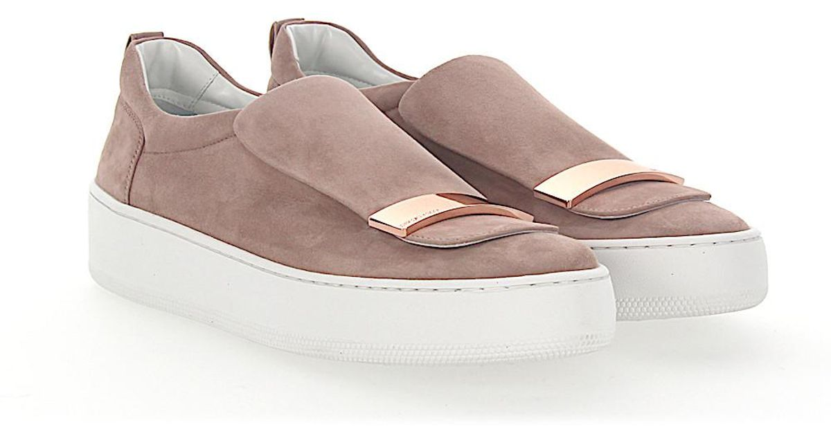 Slip-On Sneakers A79290 suede beige ros evFQByL