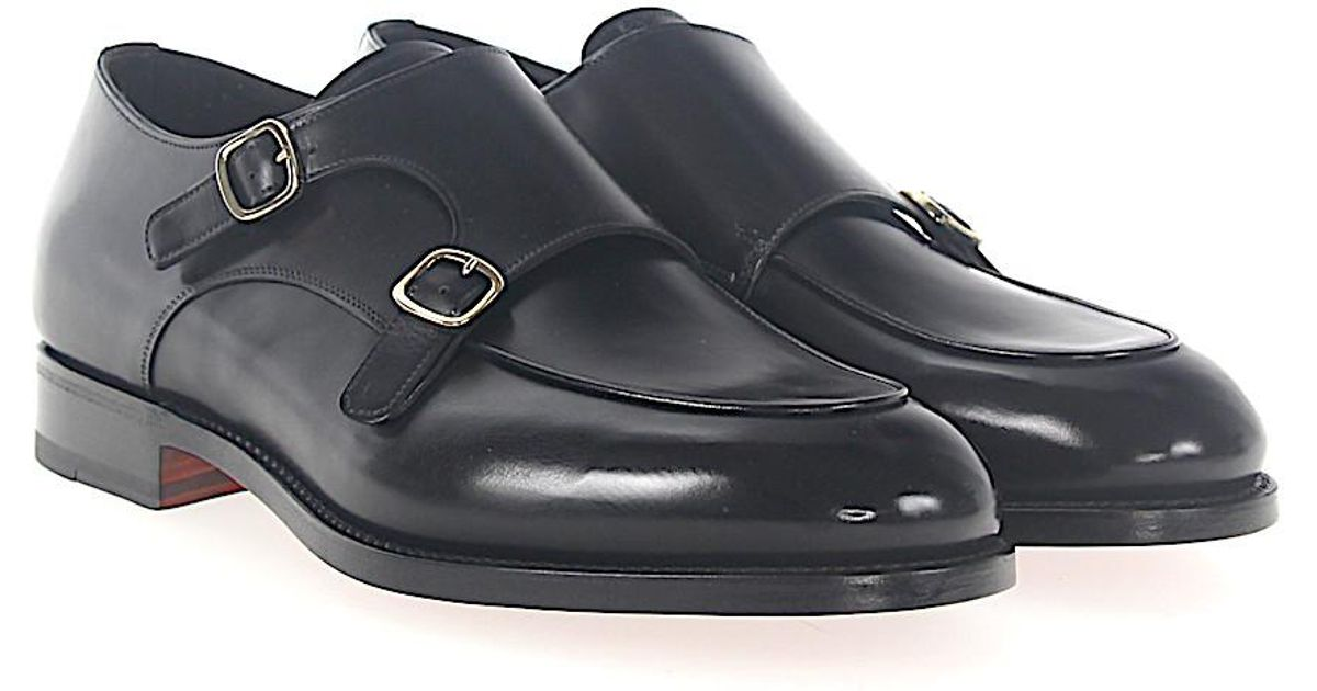 santoni Double-Monk 16036 leather jBRkFB