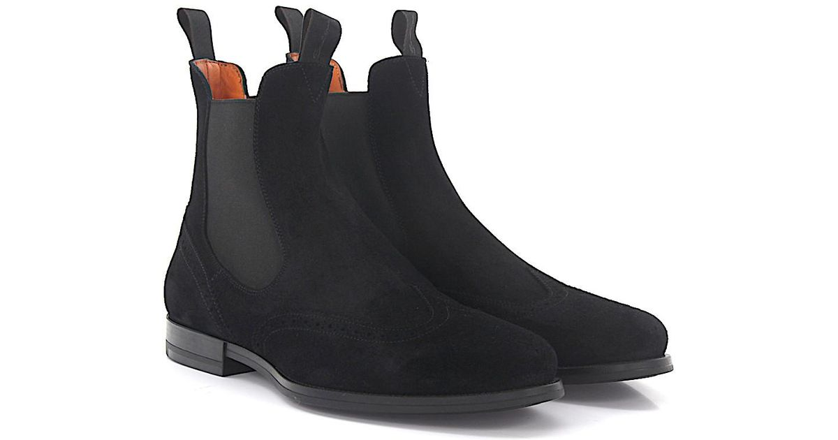 Chelsea Boots 15239 suede black Santoni Clearance Release Dates Clearance Explore Purchase Online zx8myS
