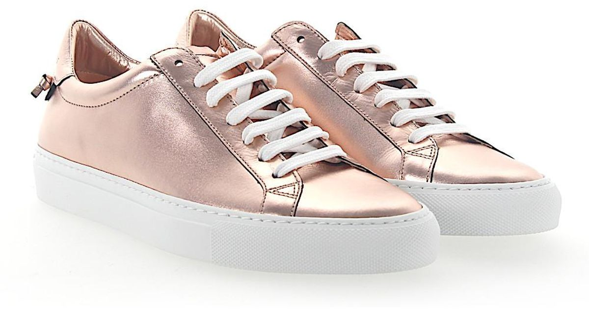 Givenchy Sneakers URBAN STREET smooth leather Metallic rose 69LdvojYRO