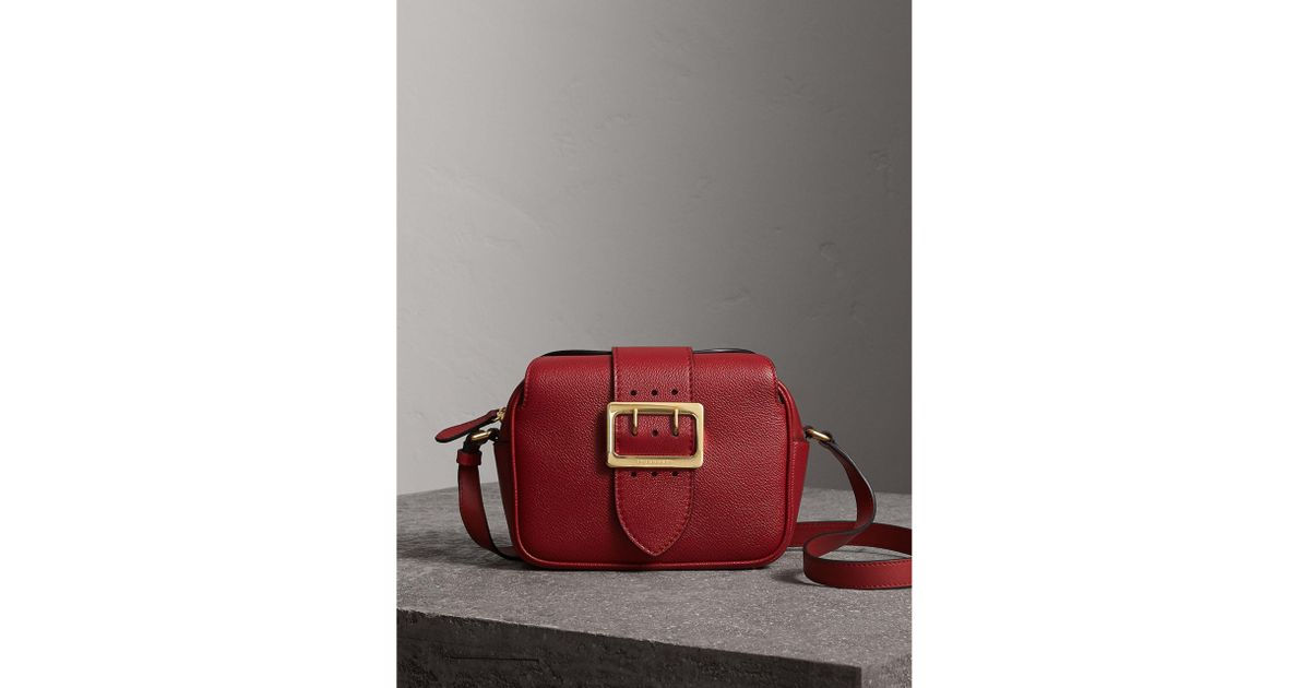 db433b3e68c1 Lyst - Burberry The Small Buckle Crossbody Bag In Leather in Red