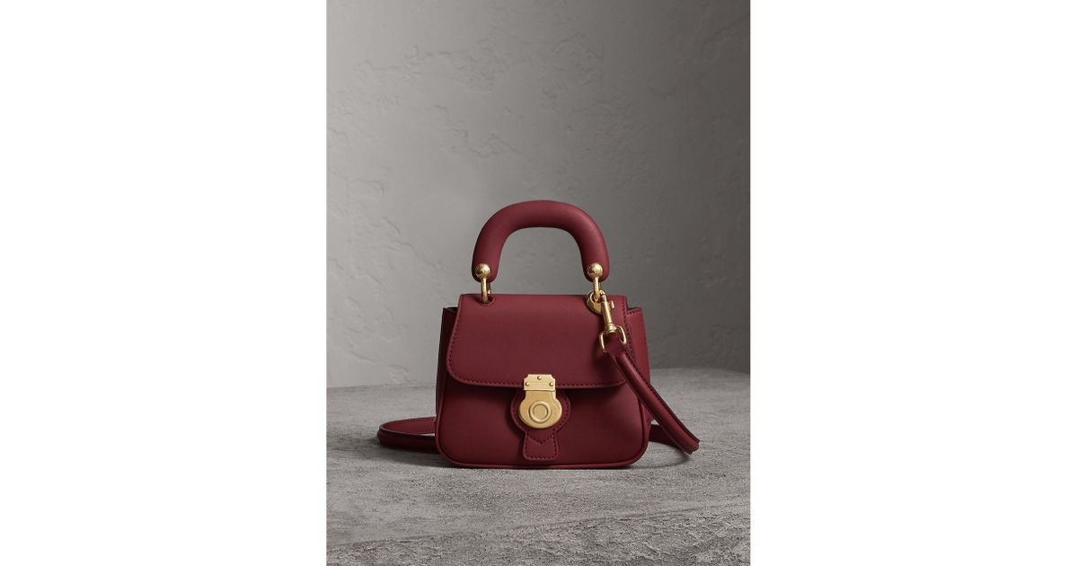 Lyst - Burberry The Mini Dk88 Top Handle Bag In Antique Red  e7e252487df48