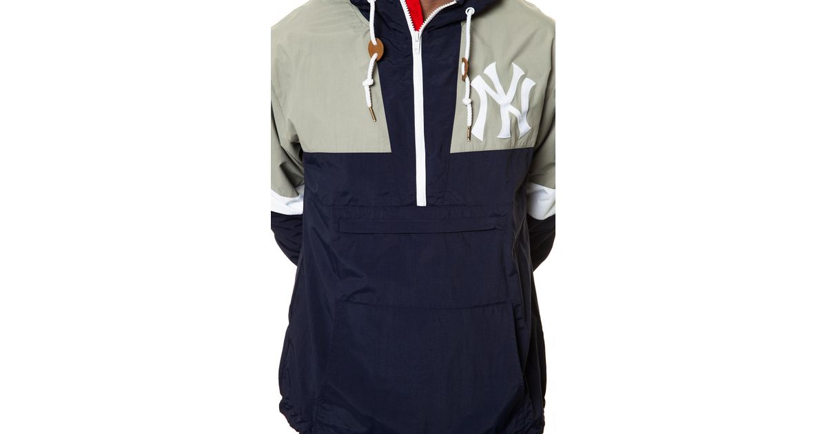 039549a2a01 Lyst - Mitchell   Ness The New York Yankees Half Zip Windbreaker in Blue  for Men