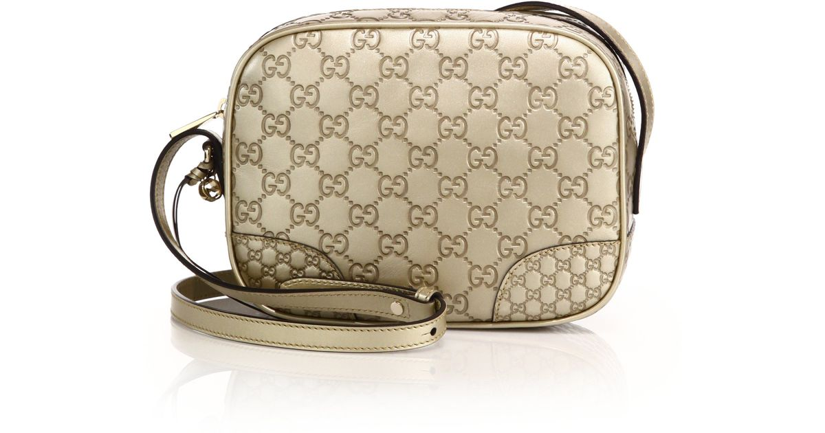 e3f27de709ee Gucci Bree Metallic Ssima Leather Disco Bag in Metallic - Lyst