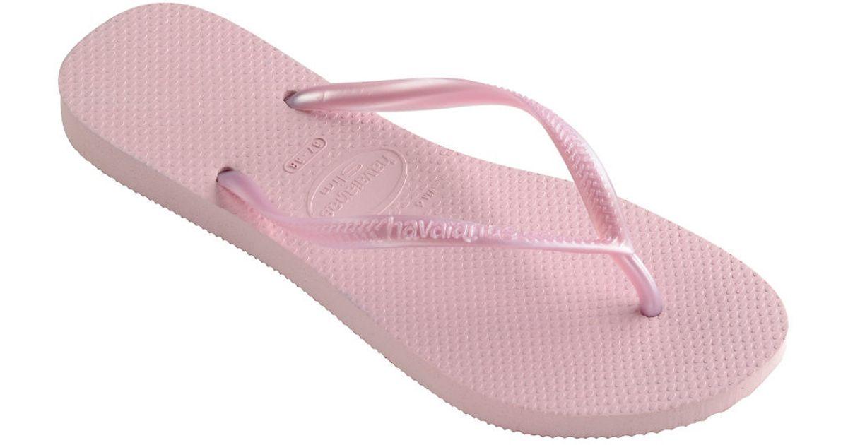 Havaianas Basic Slim Flip-Flops In Pink  Lyst-5248
