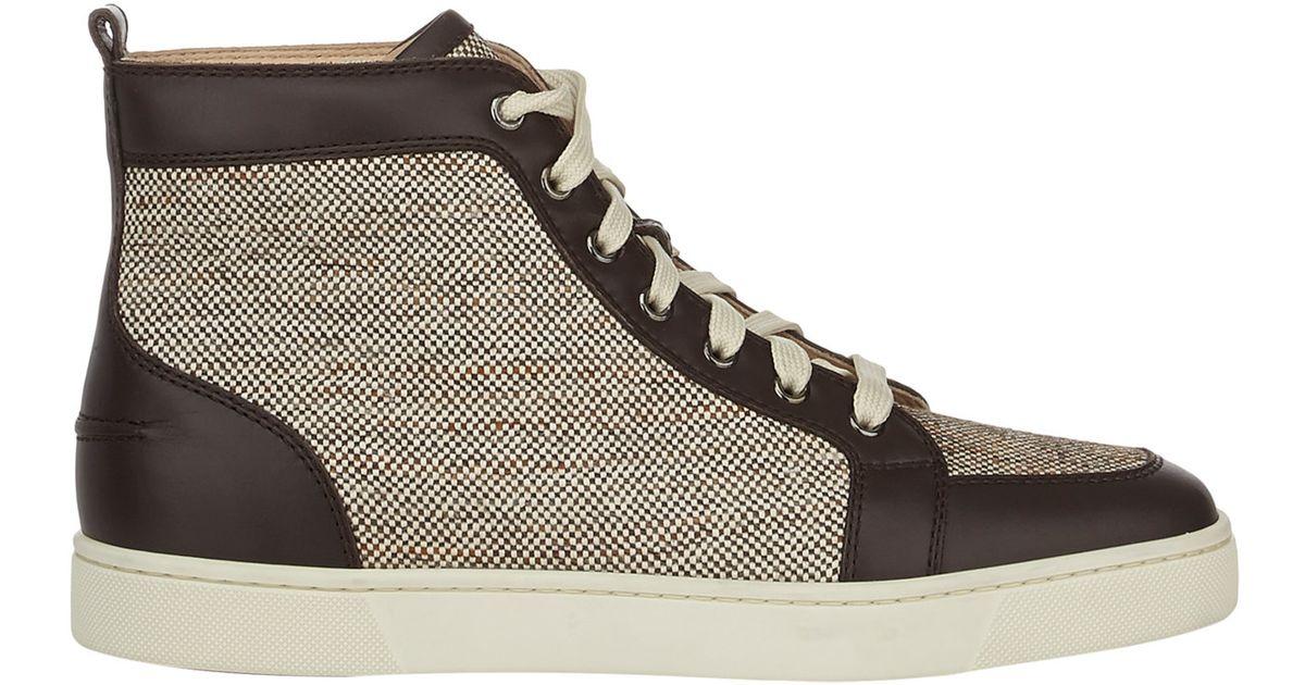 5d1401d599d Christian Louboutin Rantus Flat Sneakers in Brown for Men - Lyst