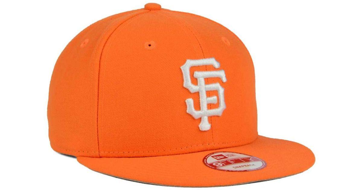 new style abaac 7cc75 Lyst - KTZ San Francisco Giants C-dub 9fifty Snapback Cap in Orange for Men