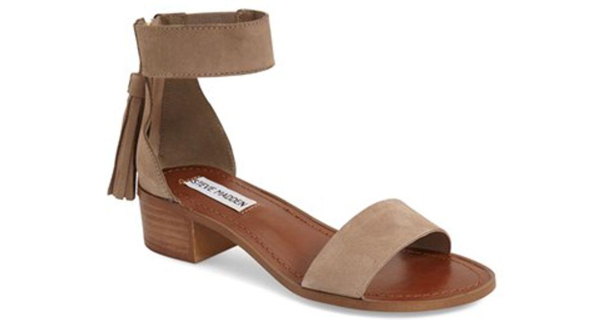 fb2d7c25b62 Lyst - Steve Madden  darcie  Ankle Strap Sandal in Brown