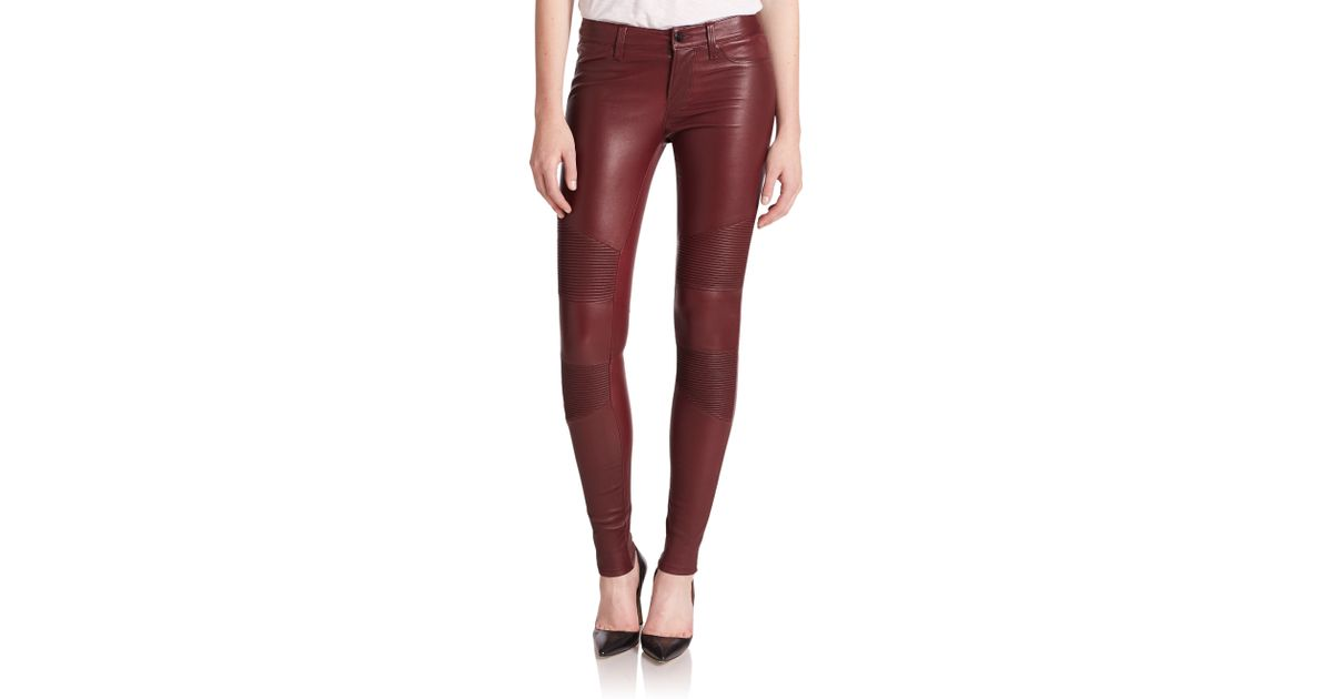 Best leather skinny jeans