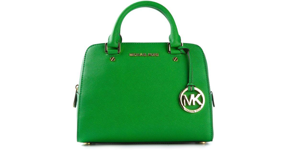 4171e41097a7 Lyst - MICHAEL Michael Kors Logo Fob Bowling Bag in Green