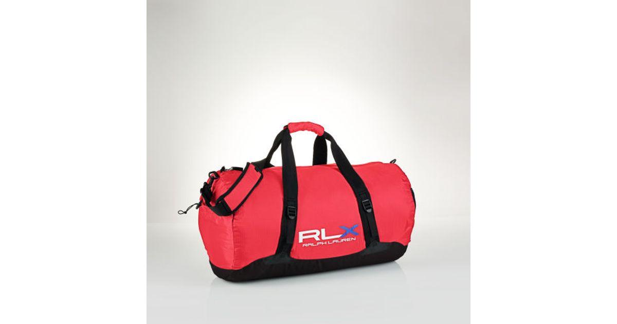 536146c20c Lyst - Polo Ralph Lauren Rlx Packable Nylon Duffel in Red for Men