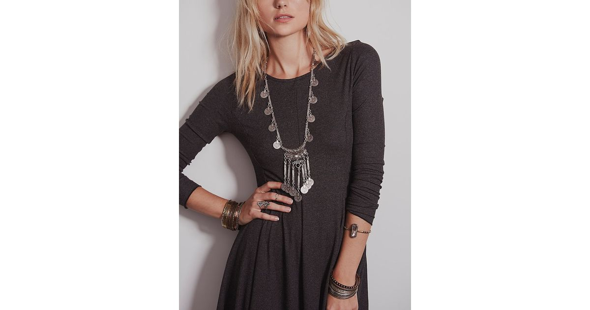cc653aadd7 Free People Ballet Fit And Flare in Gray - Lyst