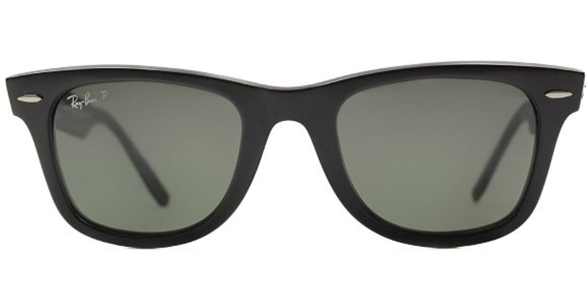 069a9a19d8b63 shopping ray ban rb2140 wayfarer sunglasses 13687 32f22  coupon for lyst  ray ban rb 2140 606658 matte black military grey plastic sunglasses in black