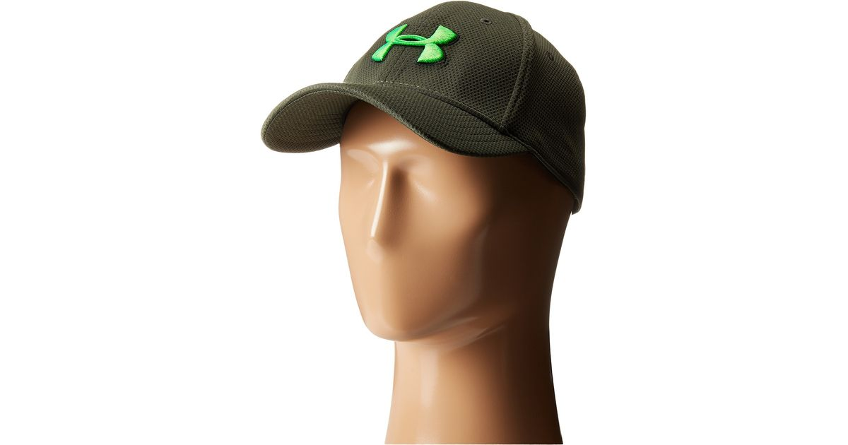 57916a3c70bf9 Under Armour Ua Blitzing Ii Stretch Fit Cap in Green for Men - Lyst