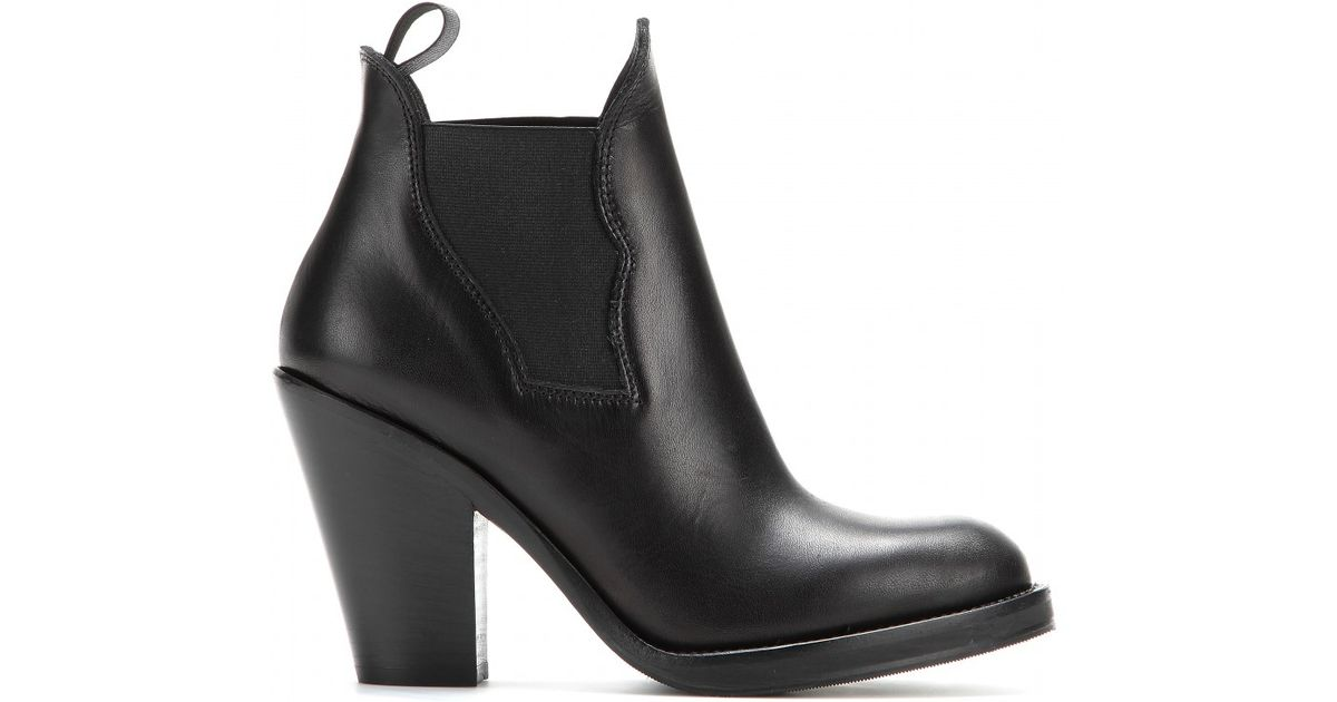 17880eccf00ef8 Acne Studios Star Leather Ankle Boots in Black - Lyst