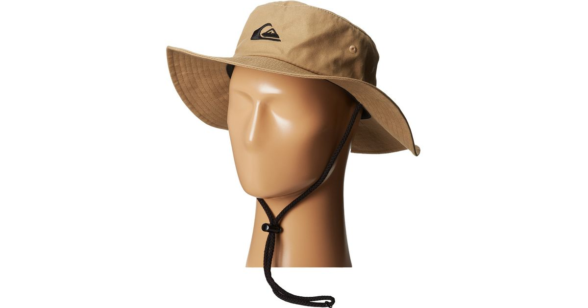 852e9d5b9fd75 ... hot lyst quiksilver bushmaster sun protection hat in natural 7dcb6 95099