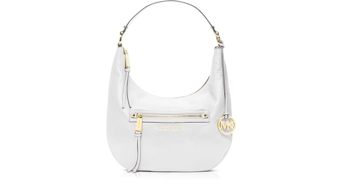 8fbd09f0155a MICHAEL Michael Kors Shoulder Bag - Rhea Zip Medium in White - Lyst