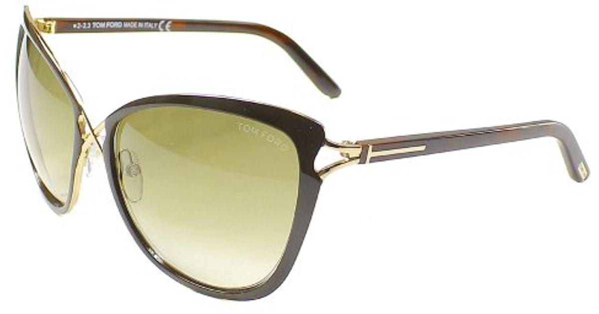 6814c8f929f Lyst - Tom Ford Tf 322 Celia 28f Cat Eye Plastic Sunglasses in Brown