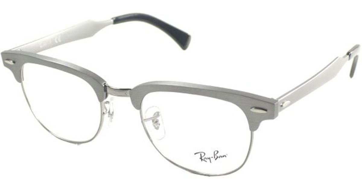 de05f8deb9 ... where can i buy lyst ray ban ray ban rx6295 aluminum clubmaster 2808  brushed gunmetal metal