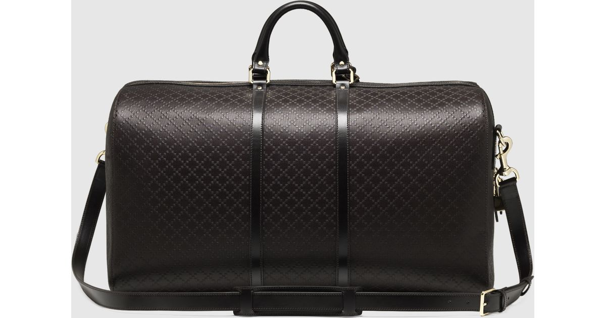 e97bf06a6d5 Gucci Bright Diamante Leather Carry-on Duffle Bag in Brown for Men - Lyst