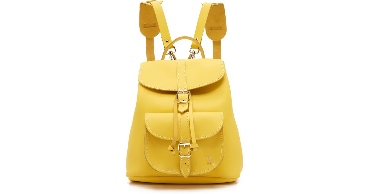 38a7be53a959 Yellow Leather Backpack Purse - Best Purse Image Ccdbb.Org