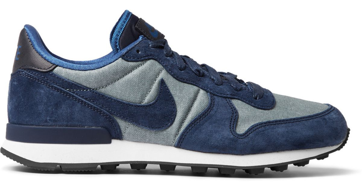 newest 87e04 3e1e4 Nike Internationalist Premium Suede-trimmed Sneakers in Blue for Men - Lyst