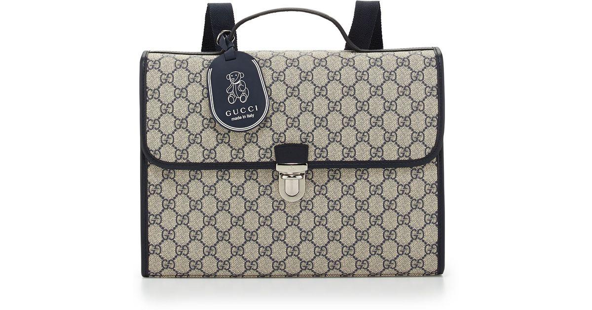 3b12f54ba54e Gucci Kids  Gg Satchel Backpack in Blue - Lyst