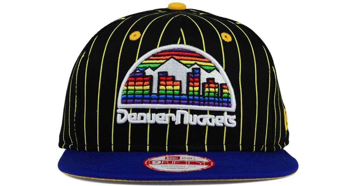 Lyst - KTZ Denver Nuggets Vintage Pinstripe 9fifty Snapback Cap in Black  for Men 382a3786d59d